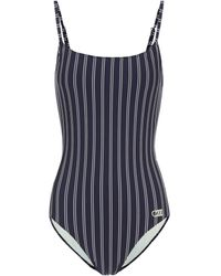 Solid & Striped Gestreifter Badeanzug The Nina - Blau
