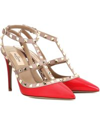 Valentino - Rockstud Patent Leather Pumps - Lyst