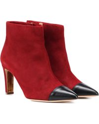 Rupert Sanderson Warrior Suede Ankle Boots - Red