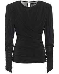 Isabel Marant Top Gimli in jersey - Nero