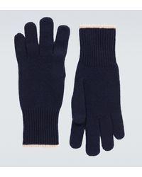 Brunello Cucinelli Handschuhe aus Kaschmir - Blau