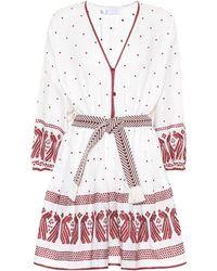 Zimmermann Exklusiv bei Mytheresa – Besticktes Minikleid aus Leinen - Weiß