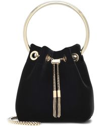 Jimmy Choo Bon Bon Velvet Clutch Bag - Black