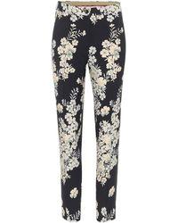 Etro Floral Jacquard Cigarette Trousers - Black