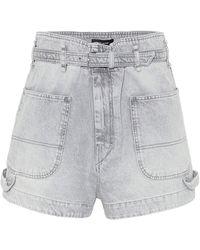 Isabel Marant Kike Denim Shorts - Grey