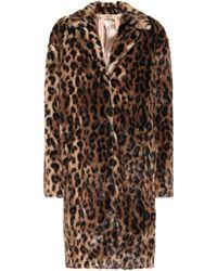 N°21 Manteau oversize à imprimé léopard - Marron