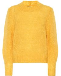 Isabel Marant Ivah Mohair And Wool-blend Sweater - Yellow