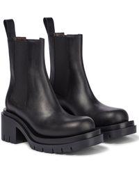 Bottega Veneta - Chelsea Boots Lug aus Leder - Lyst