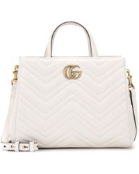 Gucci - Gg Marmont Small Matelassé Leather Tote - Lyst