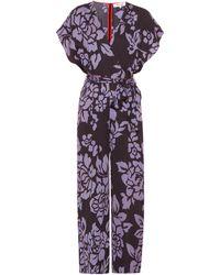 Diane von Furstenberg Jumpsuit mit Print - Lila