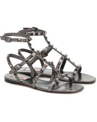 Valentino Garavani - Rockstud Leather Sandals - Lyst