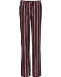 Burberry Printed Pyjama Trousers - Purple