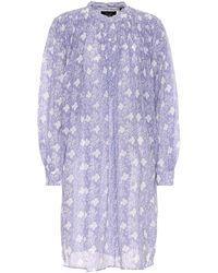 Isabel Marant Vestido Erika de algodón y seda - Morado
