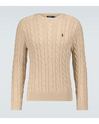 Polo Ralph Lauren Pullover mit Zopfmuster - Natur