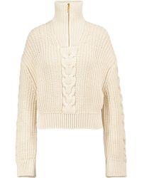 Nanushka Eria Cotton-blend Sweater - Natural