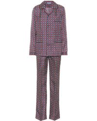 Prada Silk Pyjama Set - Multicolour