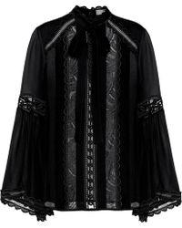 Elie Saab - Cotton And Silk-blend Top - Lyst