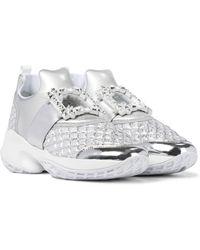 Roger Vivier Sneakers Viv' Run mit Kristallen - Weiß