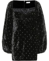 Attico - Verziertes Minikleid aus Samt - Lyst