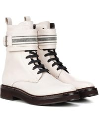 Brunello Cucinelli - Exclusive To Mytheresa – Leather Ankle Boots - Lyst