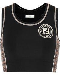 Fendi - Cropped Tech Fabric Sport Top - Lyst