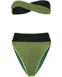 Oséree Esclusiva Mytheresa - Bikini Lumière in lamé - Verde