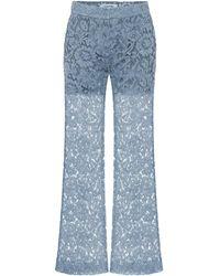 Valentino Hose aus Spitze mit Baumwollanteil - Blau