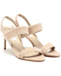 Max Mara Paula 2 Cashmere Sandals - Natural