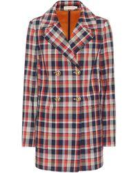 Tory Burch Checked Cotton-blend Blazer - Multicolour