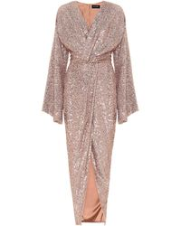 Rasario - Sequined Gown - Lyst