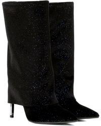 Balmain - Babette Metallic Velvet Boots - Lyst