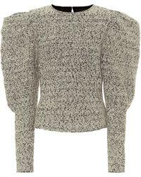 Isabel Marant Hamili Wool-blend Top - Black