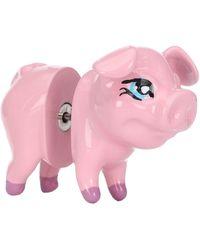 Balenciaga Pig Single Earring - Pink