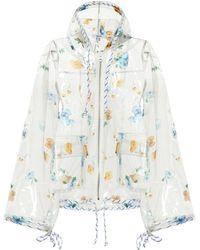 Ganni Veste à capuche imprimée - Multicolore