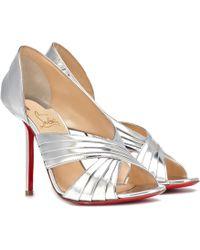 Christian Louboutin - Drapa Notta 100 Leather Sandals - Lyst