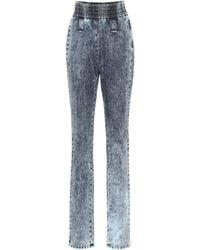 Miu Miu Denim Pants - Blue