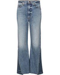 Khaite Layla High-rise Flared Jeans - Blue