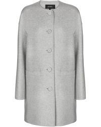 Marc Jacobs Abrigo de lana, cachemir y seda - Gris