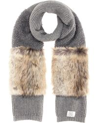 Stella McCartney - Faux-fur Trimmed Wool Scarf - Lyst