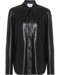 Nanushka Noelle Faux-leather Shirt - Black