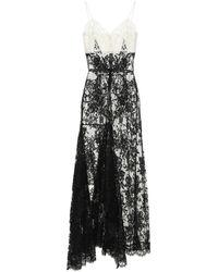 Alexander McQueen Vestido de fiesta de encaje y tul - Negro