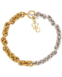 JW Anderson Chain Choker Necklace - Metallic