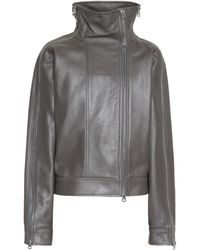 Acne Studios Leather Jacket - Grey