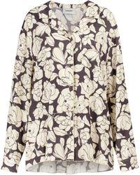 Nanushka Oona Floral Satin Shirt - Multicolour