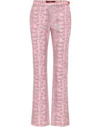 Sies Marjan Pantalones Karima de jacquard - Rosa
