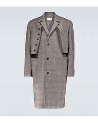 Maison Margiela Pow Checked Wool Overcoat - Multicolour