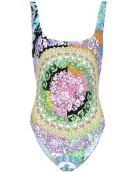 Versace Floral-printed Swimsuit - Multicolor