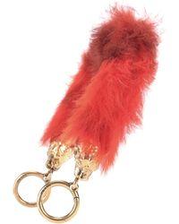 Prada Fur Bag Strap - Red