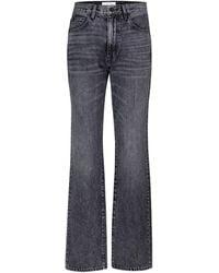 SLVRLAKE Denim High-Rise Straight Jeans London - Grau