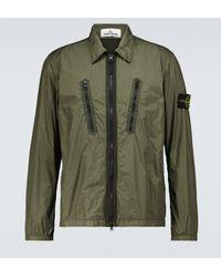 Stone Island Hemdjacke aus Tech-Material - Grün